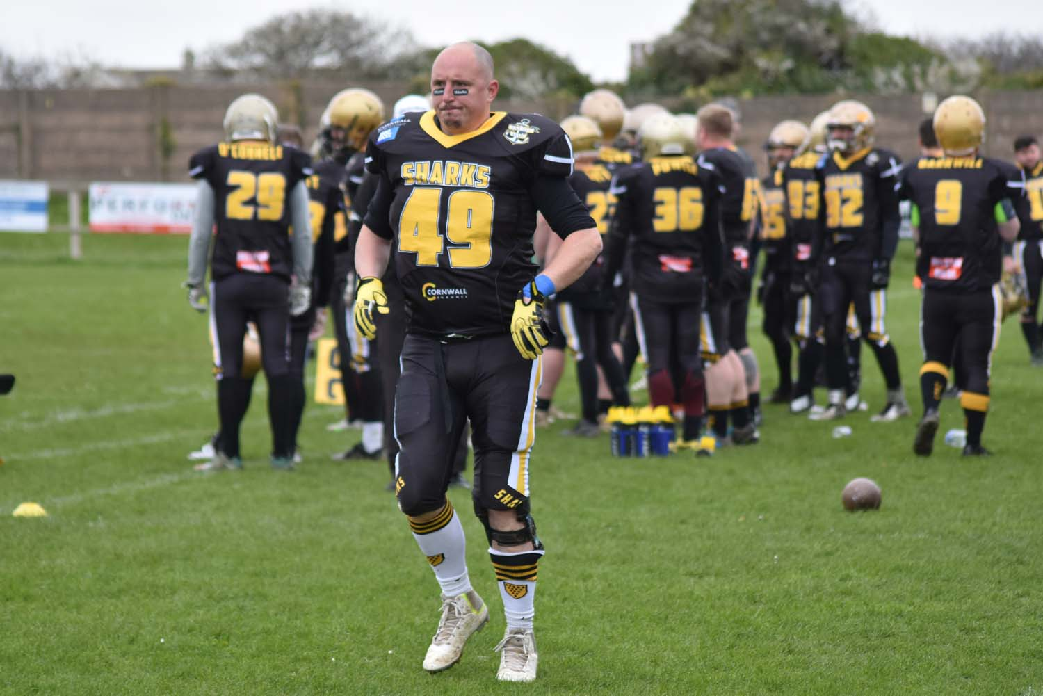 Photo of Cornish Sharks playing Somerset Wyverns in April 2019